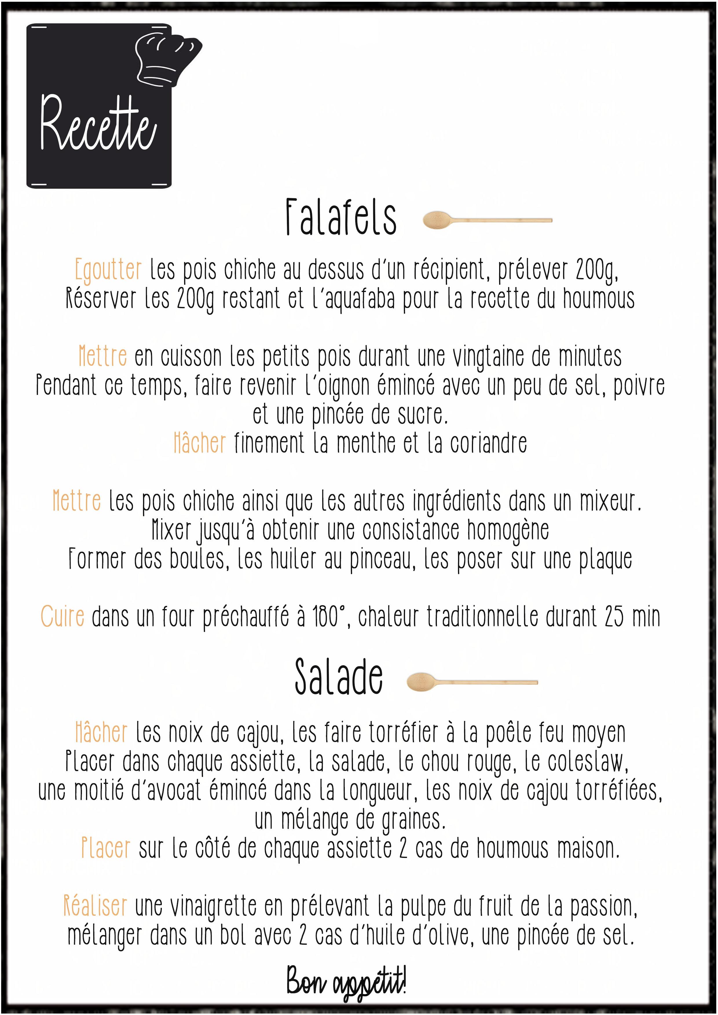 Falafels Salad recette