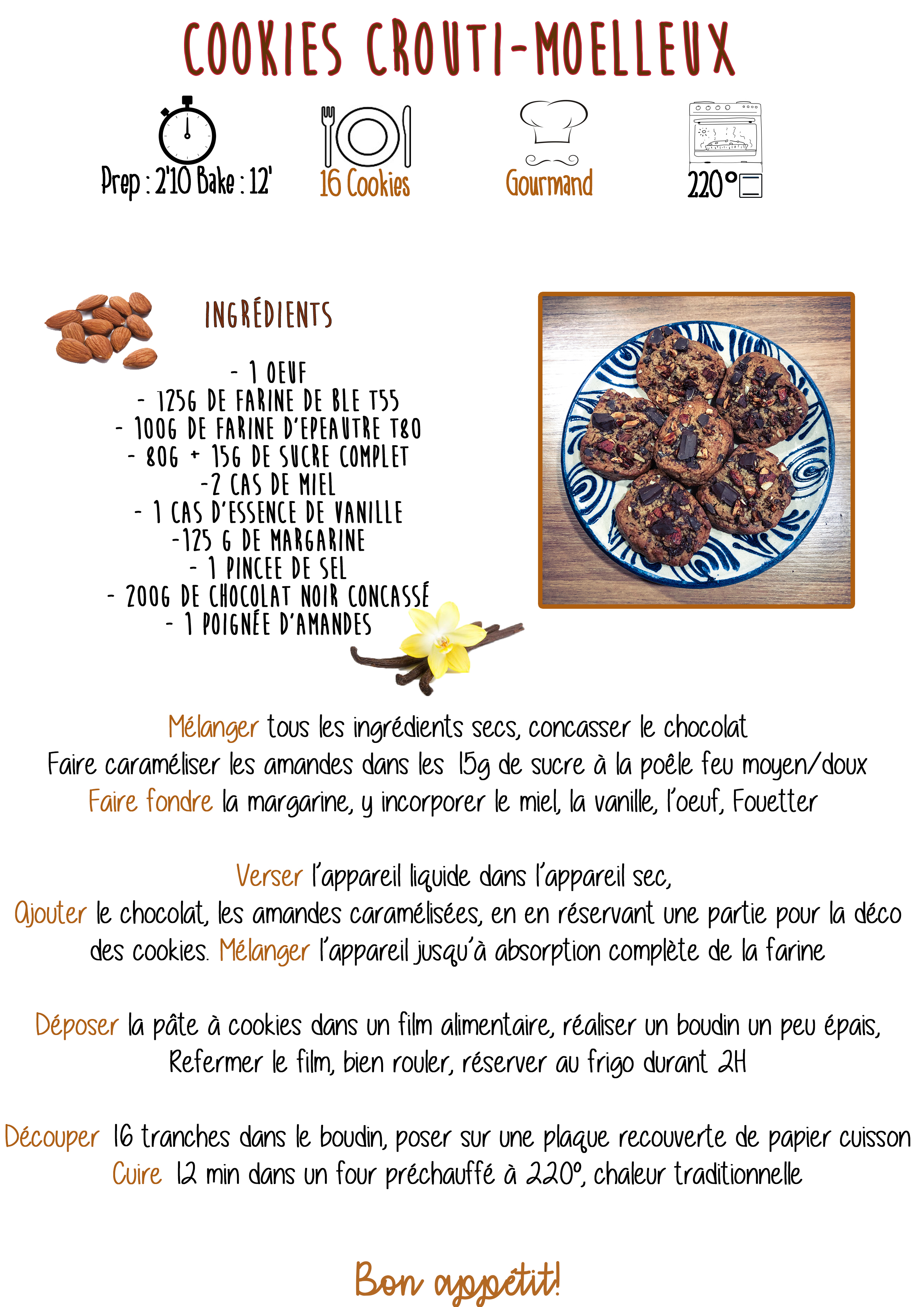 Cookies crousti-moelleux